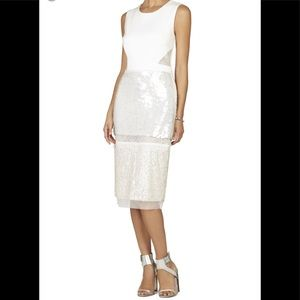 BCBG Reyna Sequin and Lace Dress